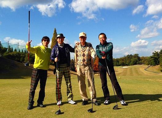 父の退院祝いで3兄弟とゴルフ