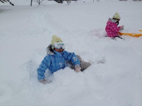雪深い荘川高原