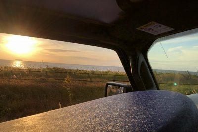 夕陽の綺麗なサンセットと音楽