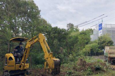 大森八龍の家伐採工事始まる