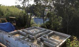 守山区翠松園H様邸の基礎擁壁