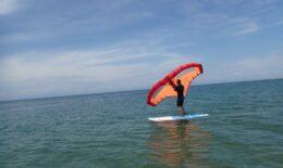 ウイングサーフィンにチャレンジ